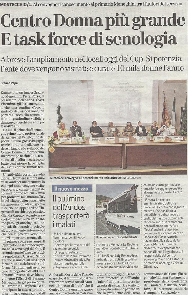 """22 maggio 2009: seminario sul """"Centro Donna"""" di Montecchio Magg.re"""