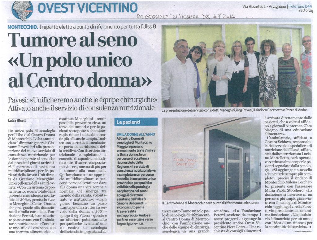 articolo GdV nutrizionista Centro Donna_06_07_2018